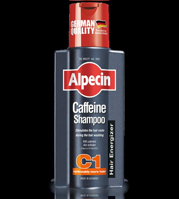 شامپو ضد ریزش کافیئن دار آلپسین C1 حجم 250 میلی لیتر