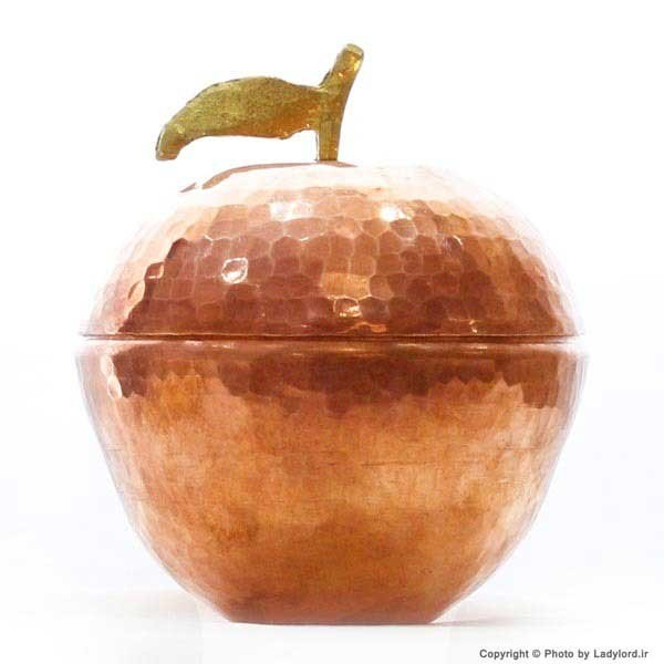 قندان مسی زنجان طرح سیب