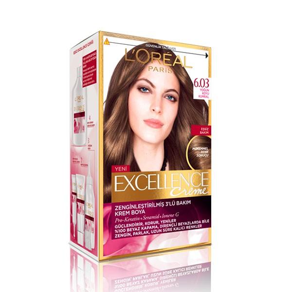کیت رنگ مو لورآل شماره 6.03 Excellence