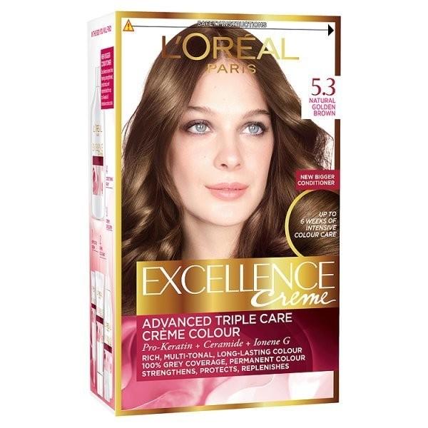کیت رنگ مو لورآل شماره 5.3 Excellence