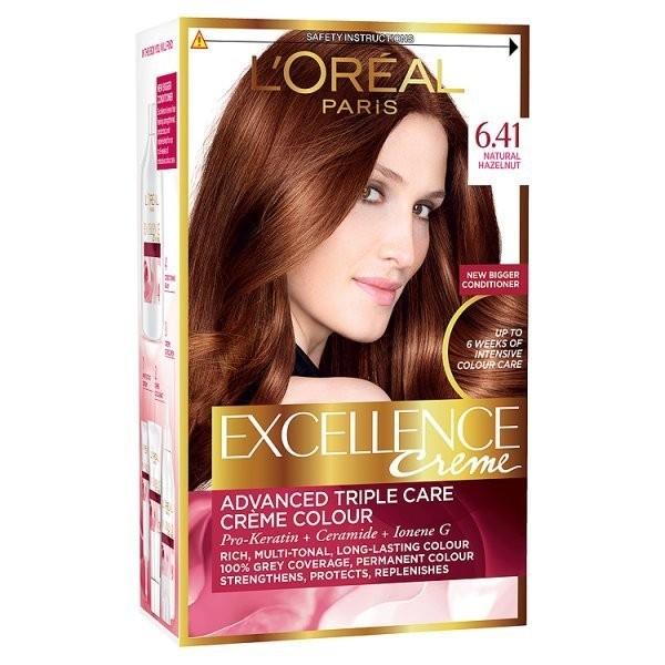 کیت رنگ مو لورآل شماره  6.41 Excellence