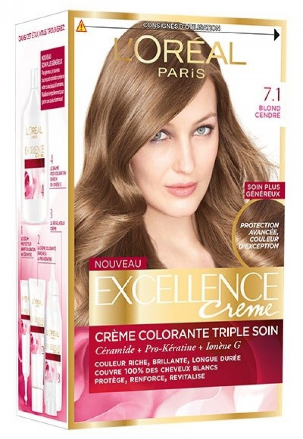 کیت رنگ مو لورآل شماره 7.1 Excellence