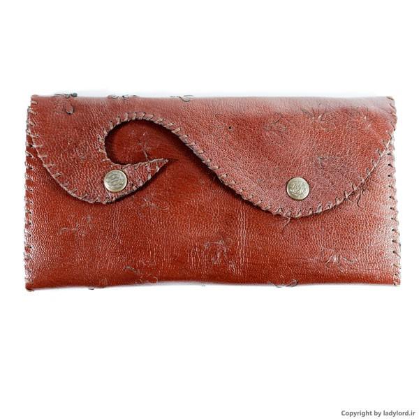کیف چرمی دست دوز زنانه طرح عقاب