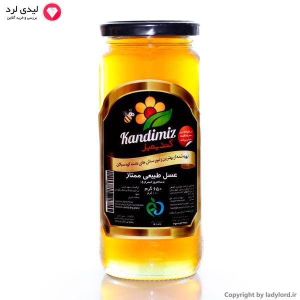 عسل طبیعی ممتاز با ساکاروز کمتر از 5%  650 گرم