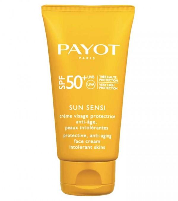 کرم ضد آفتاب و ضد پیری SUN SENSI SPF50 پایو حجم 50 میلی لیتر