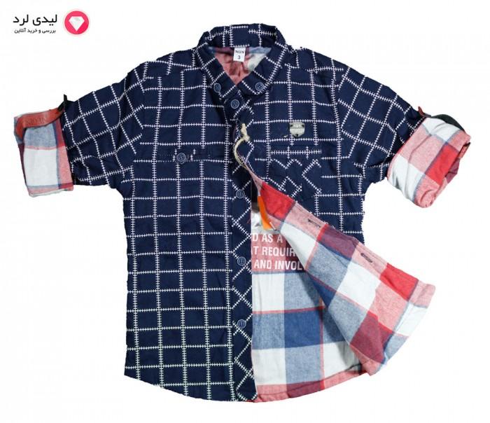 پیراهن چهار خانه پسرانه نگین