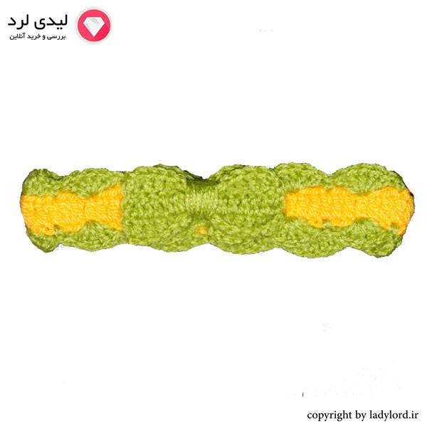 سربند بافتنی نوزاد دخترانه مناسب 1 تا 1.5 سال رنگ سبز-زرد