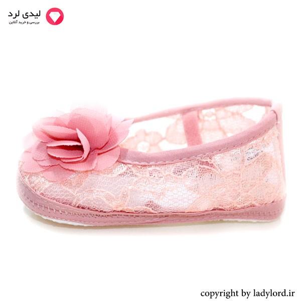 کفش bebetto نوزاد رنگ صورتی دخترانه مناسب نوزاد 6 تا 9 ماه