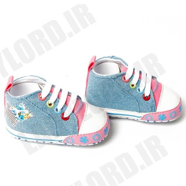 پاپوش نوزادي دخترانه میوابب مدل 1050 رنگ آبی