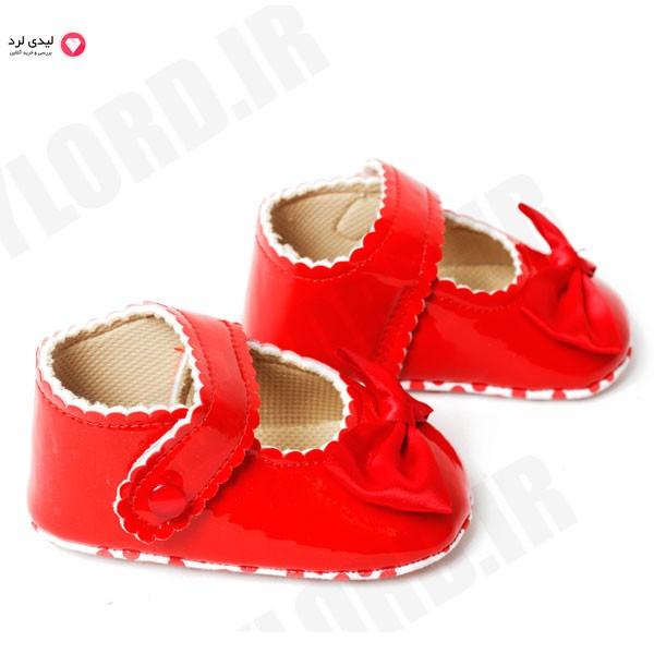 پاپوش نوزادي دخترانه میوابب مدل 1070رنگ قرمز