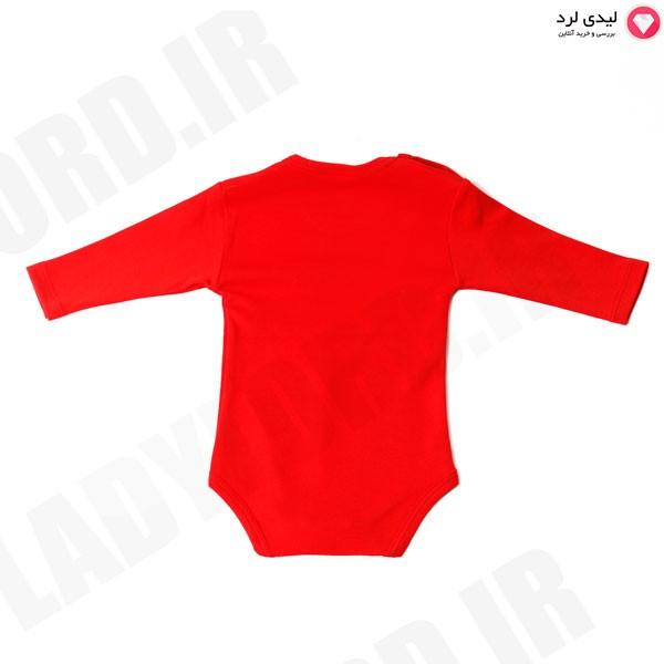 زیردکمه نوزادی قرمز طرح تیم فوتبال پرسپولیس