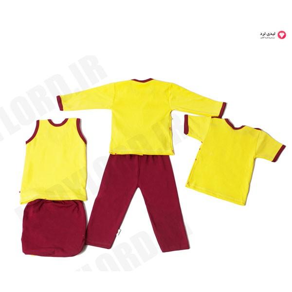 ست پنج تیکه لباس نوزادي کاپیتان مدل cincere friend ship