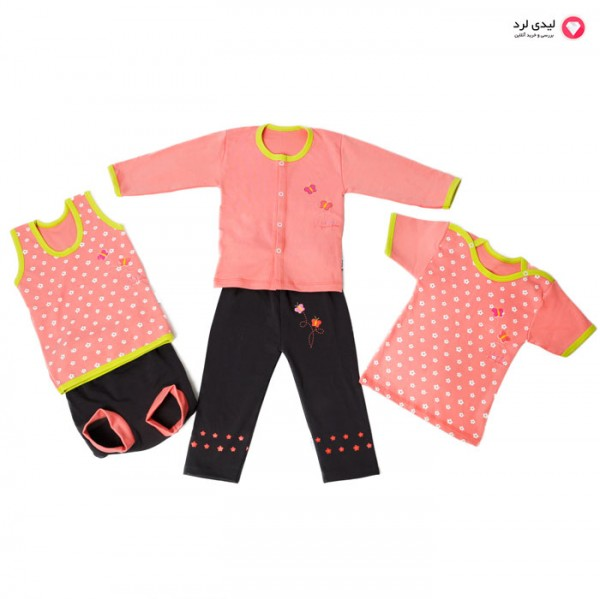 ست پنج تیکه لباس نوزادي کاپیتان مدل cute girl spring mom