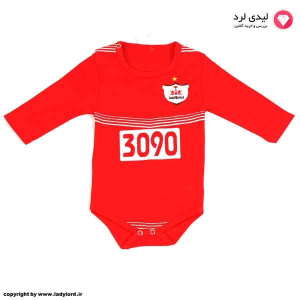 زیردکمه نوزادی قرمز طرح تیم فوتبال پرسپولیس طرح 3090
