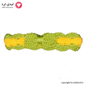 Knit Baby Snood green-yellow color suitible for 1 to 1.5 years